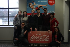 Meeting the Coca-Cola team